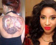 Born again Tonto Dikeh to clean her tattoos