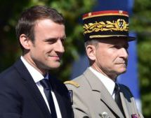 French military head quits after Macron clash