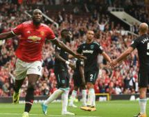 Lukaku off to flier as Man United hammer Westham