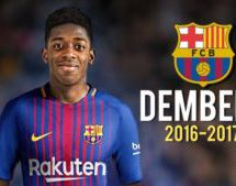 Barca unveils Dembele after 5yr €105m contract