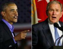 Obama and Bush decry deep US divisions