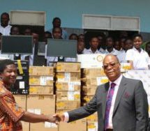 GCB presents computers to Teshie PRESEC