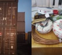 Customs intercepts 3 containers of fake electrical cables