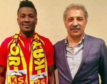 Gyan gets Kayserispor president Bedir's praise after fine form