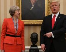 Trump hits out at May after far-right video tweets